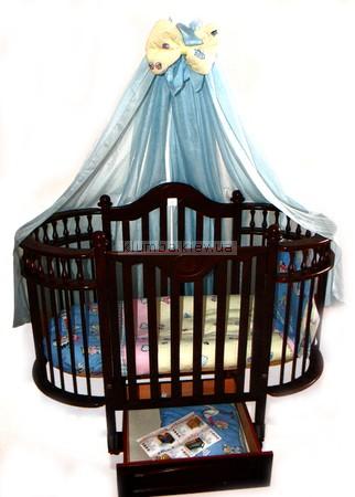 Детская кроватка Веселка Каролина (с ящиком)