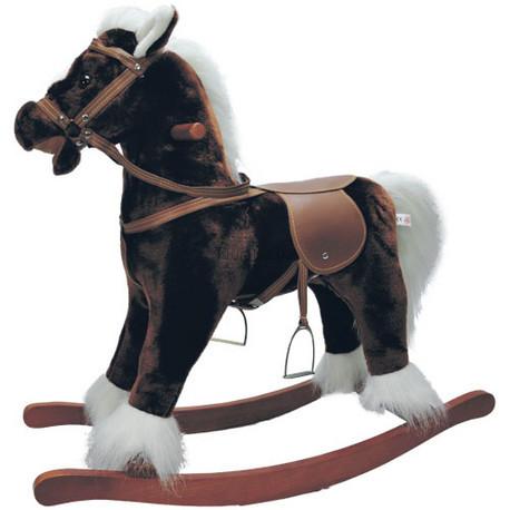 Детская машинка Jolly Ride Качалка  моя Лошадка (коричневая с белой гривой)