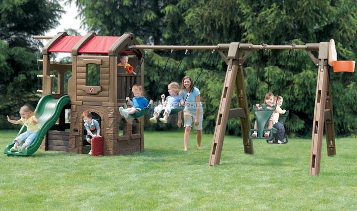 Детская площадка Step2 Игровой центр с домиком и горкой (Ракета III)