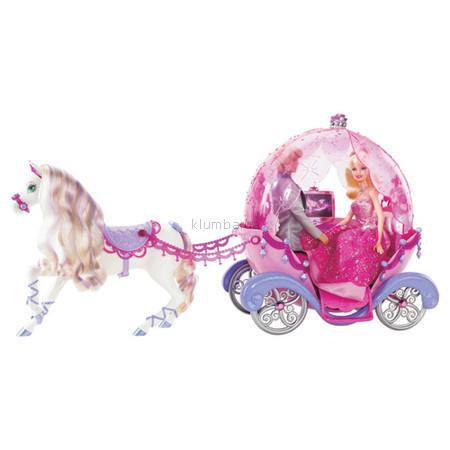 Детская игрушка Barbie Конь с каретой из серии Модная история
