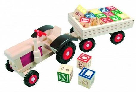 Детская игрушка Bino Трактор с кубиками в прицепе