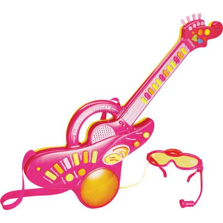Детская игрушка Bontempi Электронная гитара с очками-микрофоном