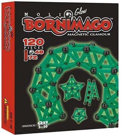 Детская игрушка Bornimago Магнитный конструктор (120 деталей)