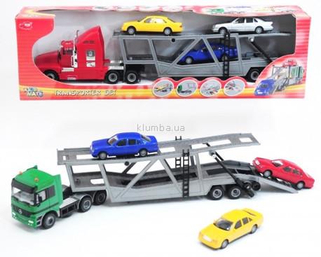 Детская игрушка Dickie Трейлер с 3 машинками