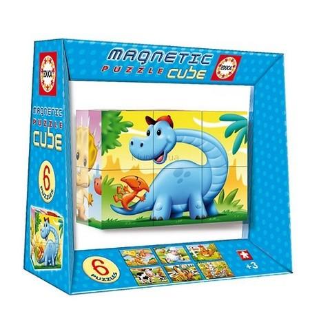Детская игрушка Educa Магнитный пазл-куб Динозавры