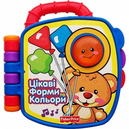 Детская игрушка Fisher Price Моя первая книга Формы и цвета