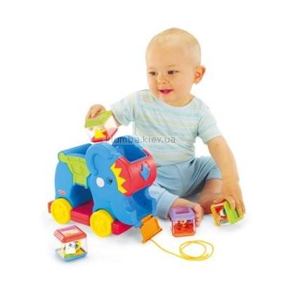Детская игрушка Fisher Price Слоник с кубиками