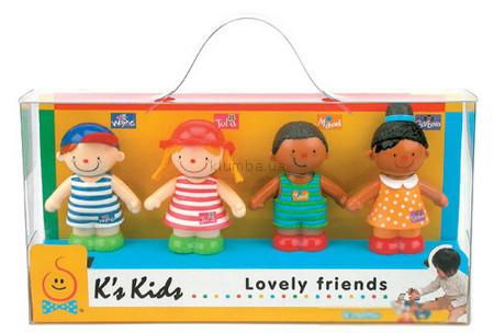 Детская игрушка K's Kids Веселые друзья Иван, Джулия, Майкл и Барбара
