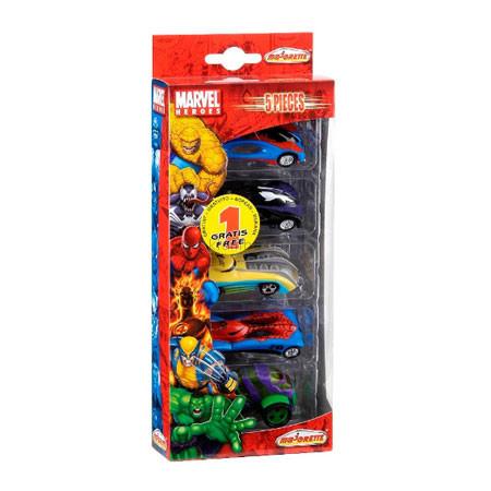 Детская игрушка Majorette Набор из 5 машинок Marvel