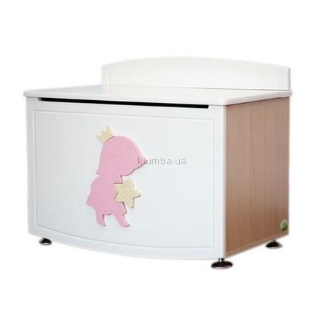 Детская игрушка MyBaby Ящик для игрушек (Ваниль с розовым)