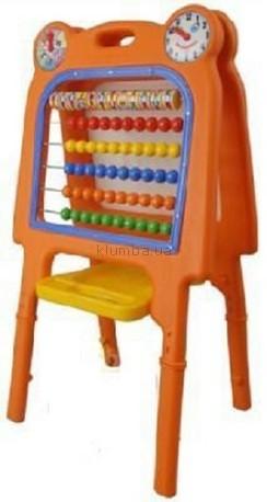 Детская игрушка Pilsan Мольберт  магнитная доска для рисования со счетами