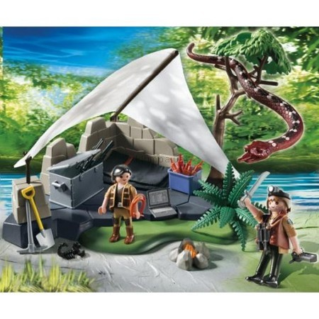 Детская игрушка Playmobil Лагерь искателей сокровищ с большой змеей