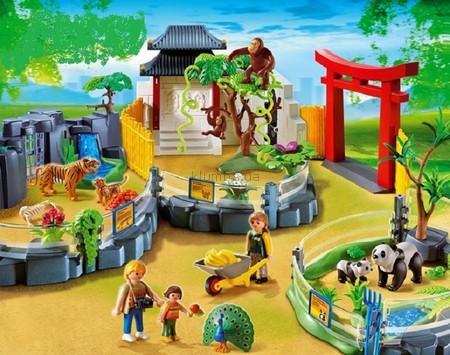 Детская игрушка Playmobil Вольер с азиатскими животными