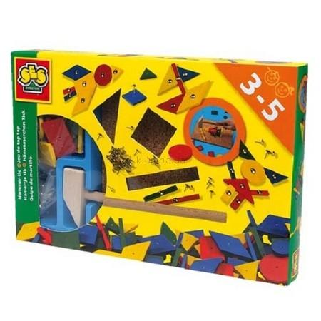 Детская игрушка Ses Набор для работ по дереву Декорирование с молоточком