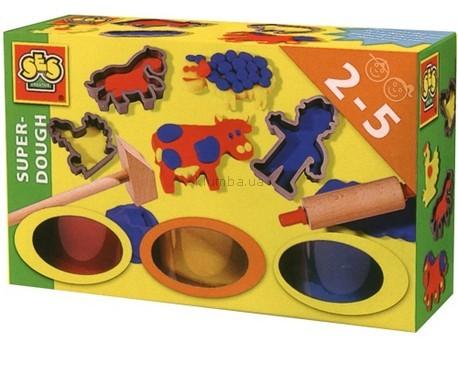 Детская игрушка Ses Незасыхающая масса для лепки Веселый фермер
