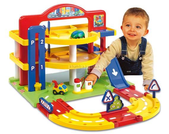 Детская игрушка Smoby Большой гараж (Парковка) Vroom planet