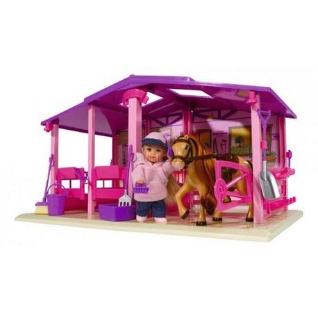 Детская игрушка Steffi Love Ева на отдыхе на конной базе