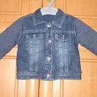 Утепленная джинсовая курточка Gecrge от 6-9 мес.