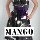 Mango M\46 разм. новое шикарное шелковое черное фиолетовое женское платье