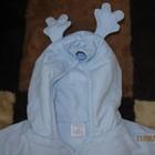 куртка демисезонная голубая олененок