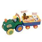 Kiddieland игрушка на колесах трактор с трейлером русск и украинский яз новый