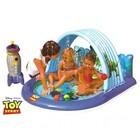 Игровой центр с фонтанчиком, мячиком, надувнои ракетой-кольцебросом