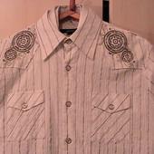 рубашка сорочка атласная нарядная L 2 разные