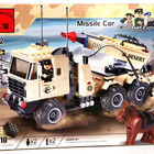 Конструктор 822 Машина с ракетницей, Brick 310 деталей. Брик