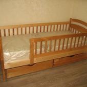 Кровать со съемными перегородками Арина 80 190см ольха, орех