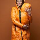 Куртка демисезонная 3в1 оранжевая для беременных, слингоношения ТМ Laura Bruno