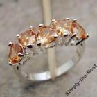 Красивое коктейльное кольцо с сердцами .925 Sterling Silver.Morganite