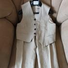 Шикарный итальянский льняной костюм тройка для мальчика