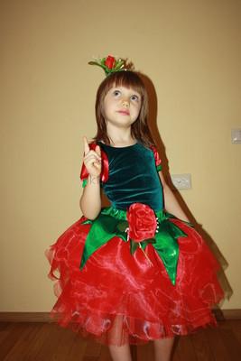 Новогодний карнавальный костюм Роза, Троянда, Цветочек, Цветок, Квіточка