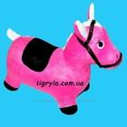 Прыгун резиновый лошадка розовая в чехле