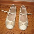 туфли весенне-летние для девочки лаковые бежевые, 21см