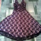 Платье-сарафан, нарядное гипюровое, черное, красивое, вечернее