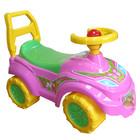 Машинка каталка толкатель толокар с бардачком и пищалкой на руле Принцесса
