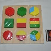 Деревянный вкладыш логика геометрика половинки