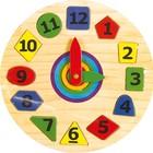 Пазл (рамка-вкладыш) часы геометрия МДИ