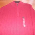 темно- бордовый свитер с небольшой молнией из Америки