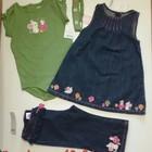 Gymboree Новый Комплект бодик, сарафан ободок и джинсы. Ну  ооочень красивый  :-)