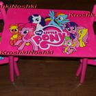 Детский столик и два стульчика Розовый пони