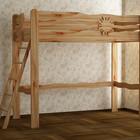 кровать-чердак из ольхи, сосны или ясеня Солнышко.