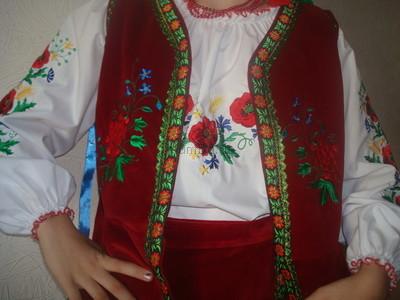 Украинский костюм калина (эксклюзив)на девочку прокат фото №1