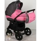 Детская универсальнавя коляска 2 в 1 Aneco Venezia цвет:8 серый с розовым. Польша