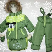 Зимний комбинезон для девочки и мальчика от 0-2 лет