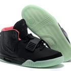 Кроссовки Nike Air Yeezy 2 black green red