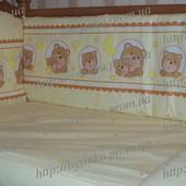 Постельное белье в кроватку новорожденного.Бортики высокие на молнии