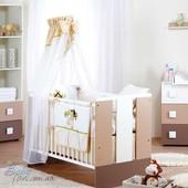 Кроватки детские Klups Paula Latte