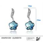 Svarovski elements! Серьги с кристаллами Сваровски